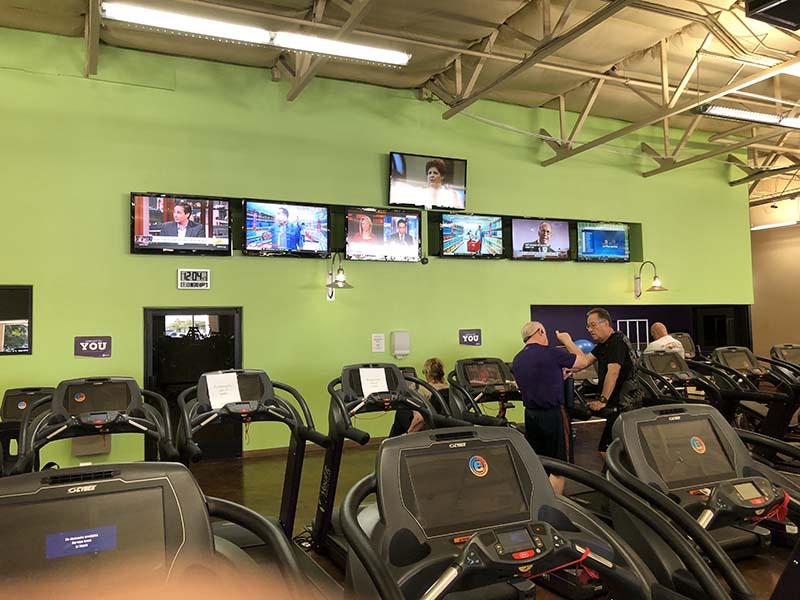 TV wall healthclub