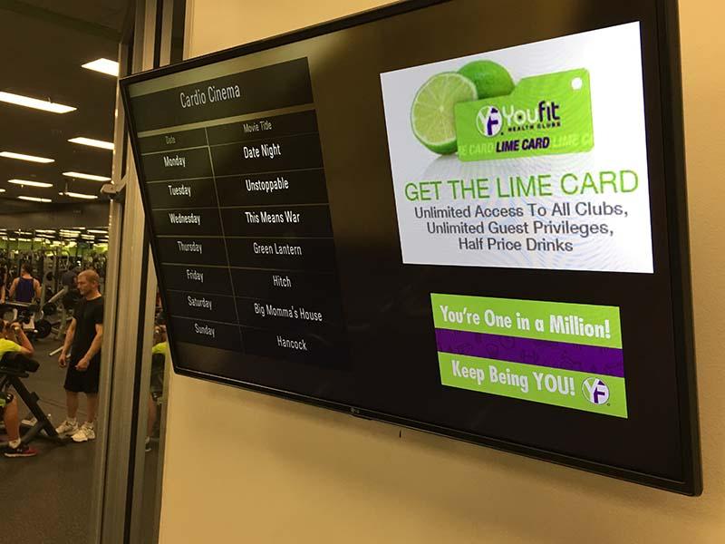 gym digital signage
