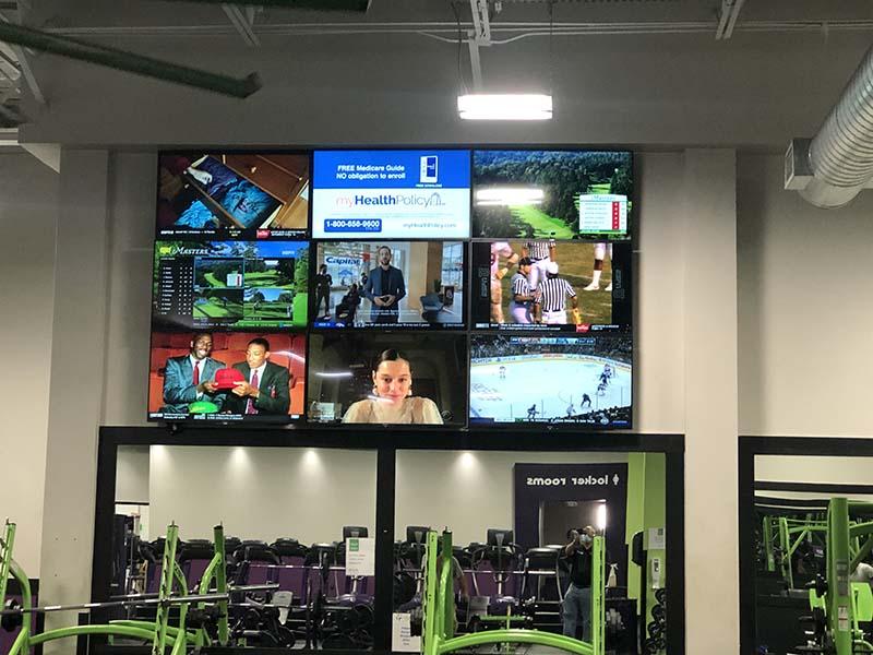 Gym tv wall