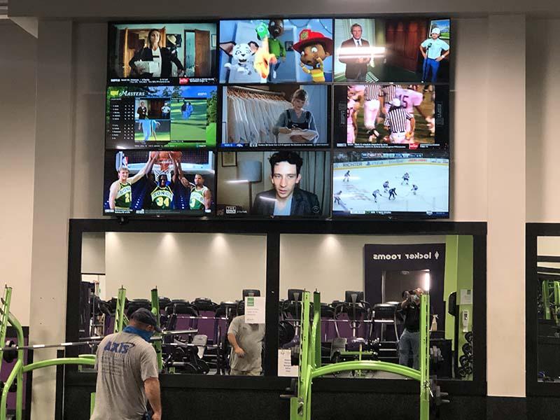 TV Wall gym